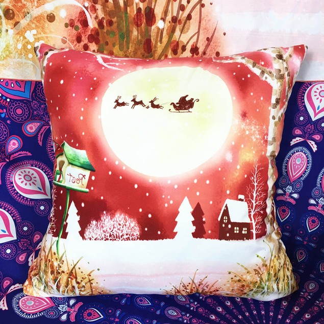 Sofa Bed Square Pillow Cover Cushion Two-Side Case Zipper Closure