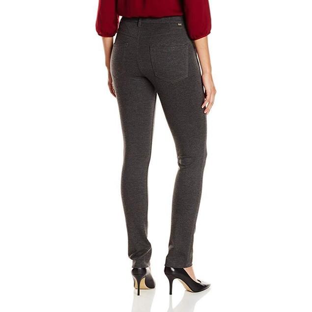 Jag Jeans Women's Rowan Slim Double Knit Ponte, Charcoal Heather, 16