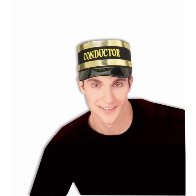 Train Conductor Hat Cap Railroad Operator Uniform Costume Adult