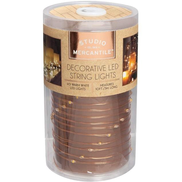 Studio Mercantile LED Copper 10 Ft. Decorative String Lights, 1 Size, Gold
