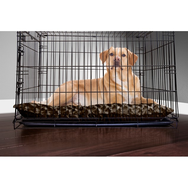 FurHaven Ultra Plush Pillow Pet Bed for Crates & Kennels