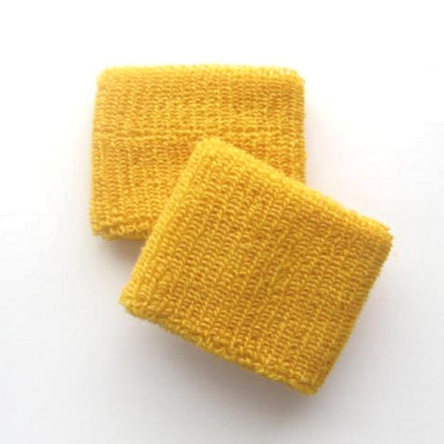 Gold Wristbands (Pair) Sports Athletic Cotton Paulie Bleeker Costume Juno