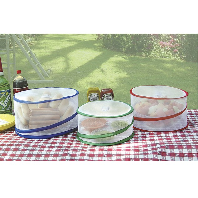 Chef Buddy Picnic Pop-Up Outdoor Food Covers- Set of 3