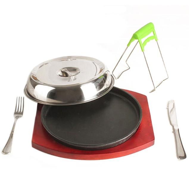 Cast Iron Plate Grilled Fillet Steak boutique rosewood Serving board 24cm