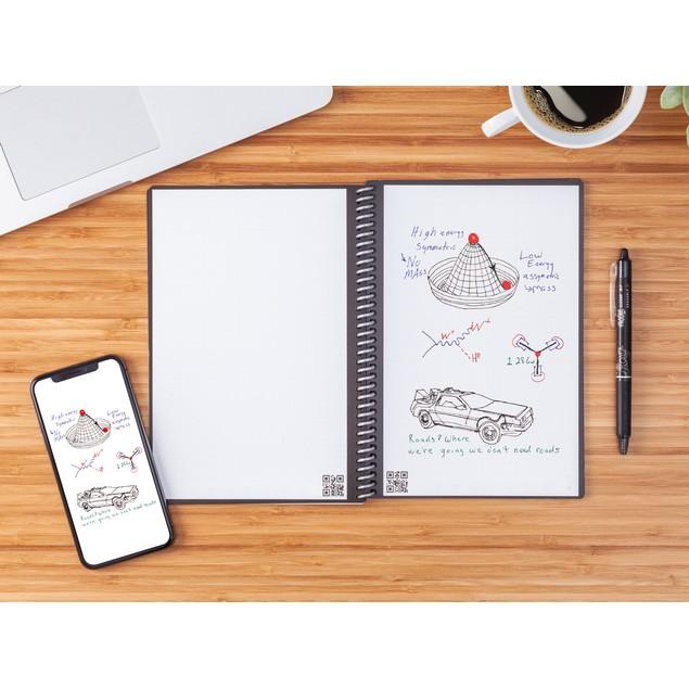 Rocketbook Smart Reusable Notebook Bundle (Rocketbook + 4 FriXion Pens)