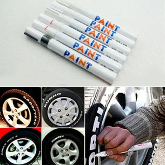 12 Colors Waterproof Car Tyre Tire Marker Pen