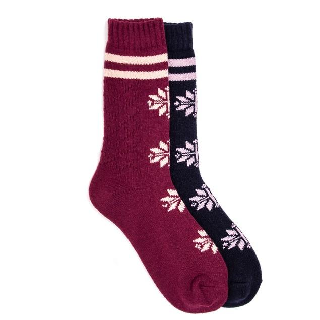 MUK LUKS ® Women's 2 Pair Pack Boot Socks