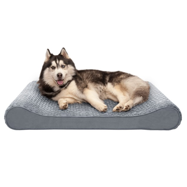 FurHaven Ultra Plush & Suede Luxe Lounger Memory Top Pet Bed