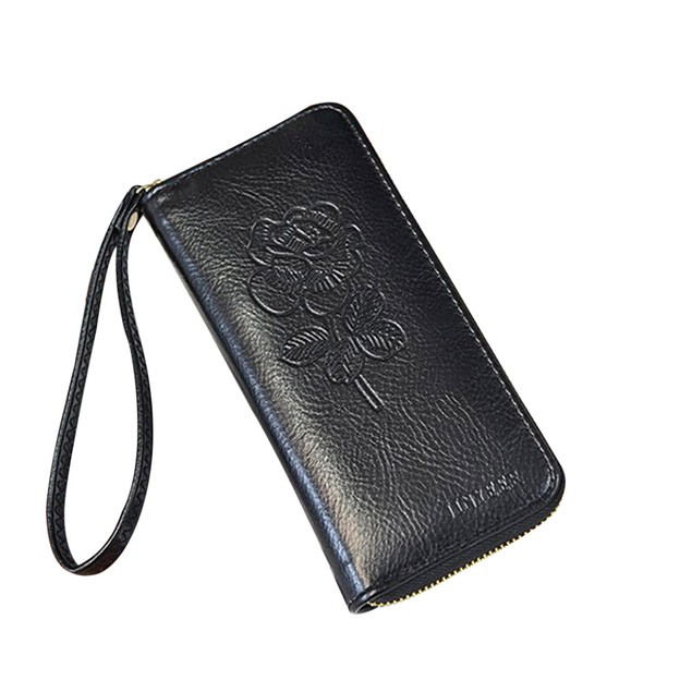 Women's Leather Handbag Zipper Bag Card Bag Tote Lady Purse Wallet