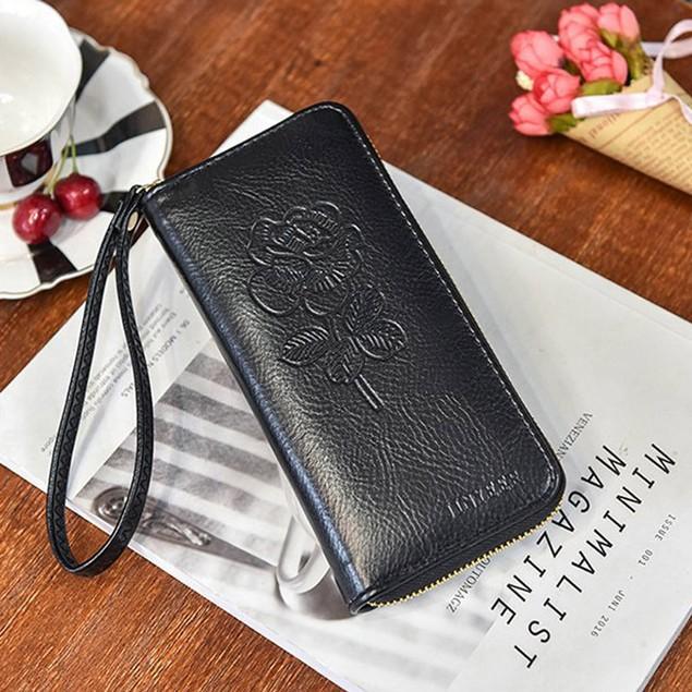 Women's Leather Handbag Zipper Bag Card Bag Tote Lady Purse Wallet