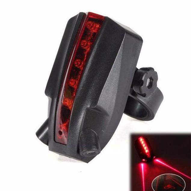 2 Laser + 5 LED Rear Bicycle Warning Light