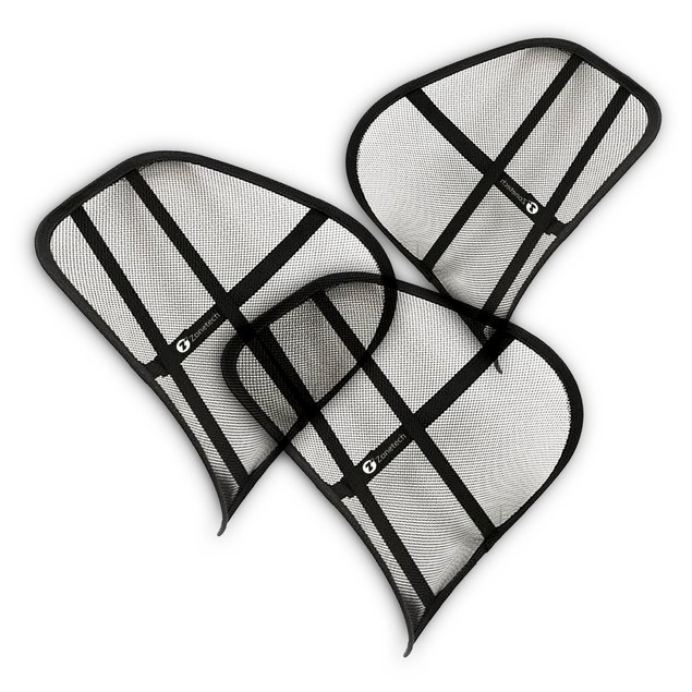 3-Pack Zone Tech Mesh Back Lumbar Posture Chair Support