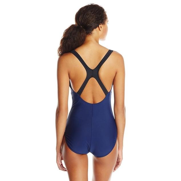 Speedo Contemporary Ultraback One-Piece Swimsuit, Nautical Navy, SZ: 12