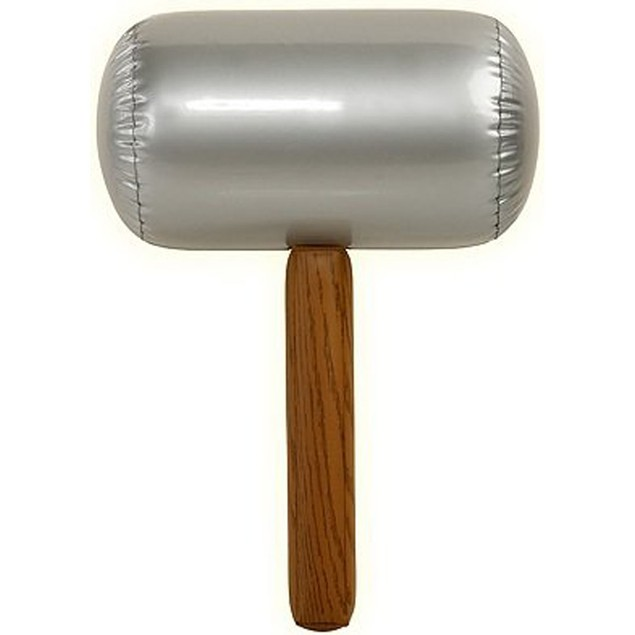 Jumbo Inflatable Mallet Clown Sledge Hammer Large Costume Accessory Prop