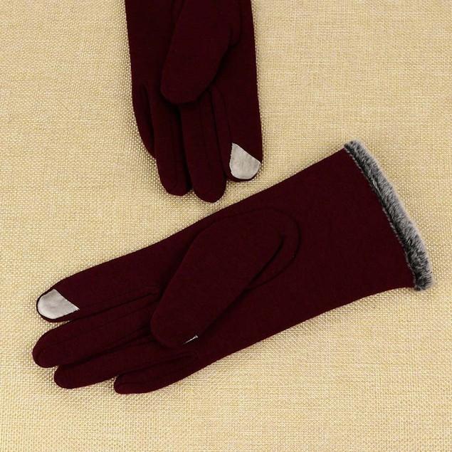 Women Cashmere Keep Warm Driving Full Finger Gloves Touch Screen Glove d
