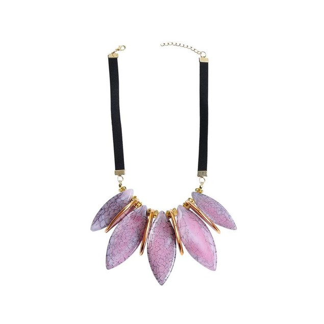 Novadab PETAL INSPIRED SELF-PATTERNED ELLIPTIC NECKPIECE