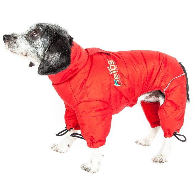 Helios Thunder-crackle Full-Body Waded-Plush Adjustable Dog Jacket