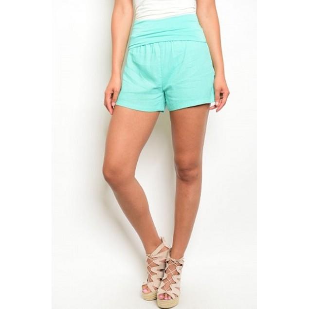 One Story Mint High Waist Shorts