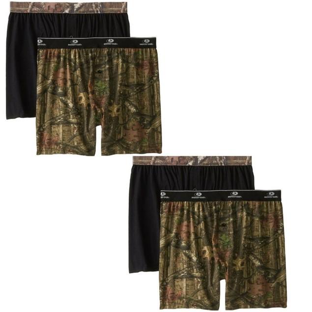 4-Pack Men's Mossy Oak Moisture Wicking Boxer Shorts