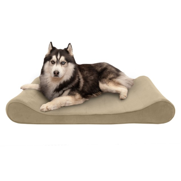 FurHaven Microvelvet Luxe Lounger Cooling Gel Pet Bed
