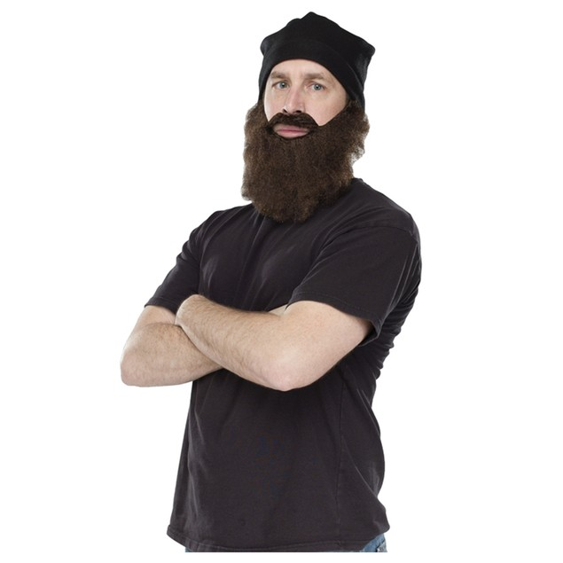 Jas Black Ski Cap with Brown Beard Duck Dynasty Reality TV Show Costume Hat