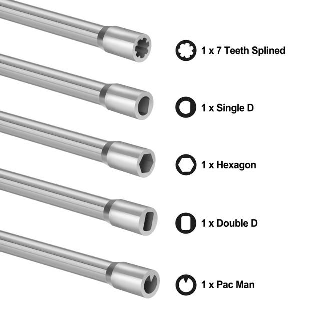AGPtek  Set of 5 Carburetor Adjustment Screwdrivers Tune-up Tool Kit