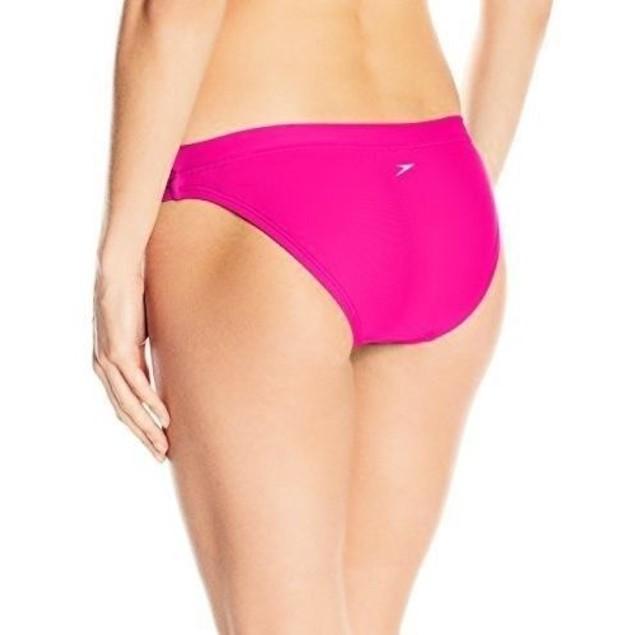 Speedo Women's Powerflex Eco Solid Swimsuit Bottom, Power Pink, Size M