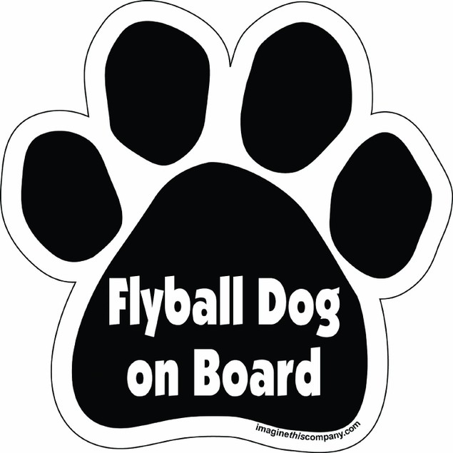 Flyball Dog On Board Paw Magnet