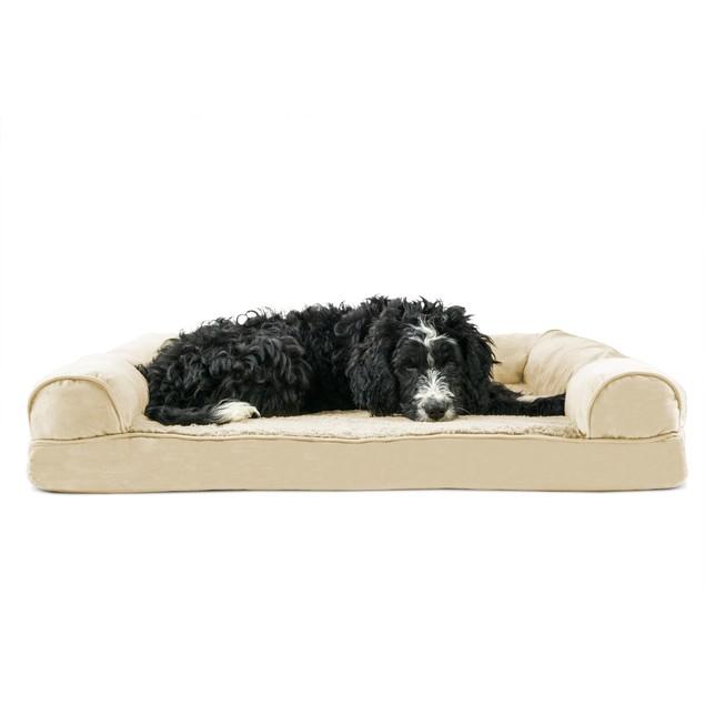 FurHaven Plush & Suede Memory Foam Sofa Pet Bed