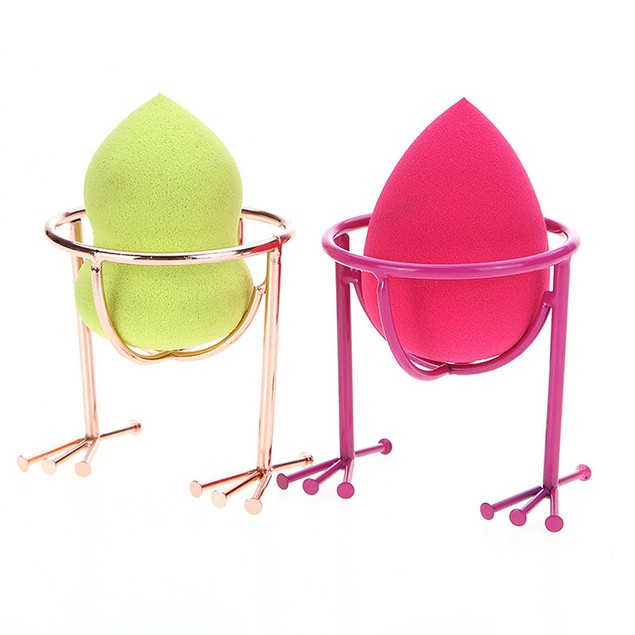 2pc Makeup Stencil Egg Powder Puff Sponge Display Stand Drying Holder