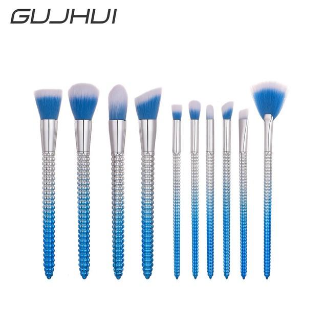 Fashion 10Pcs Corn Pencil Foundation Makeup Brushes Eyeliner Brush 259