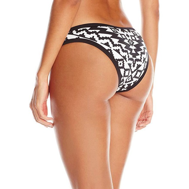 Seafolly Women's Kasbah Scuba Hipster Bikini Bottom, Black/White, 2