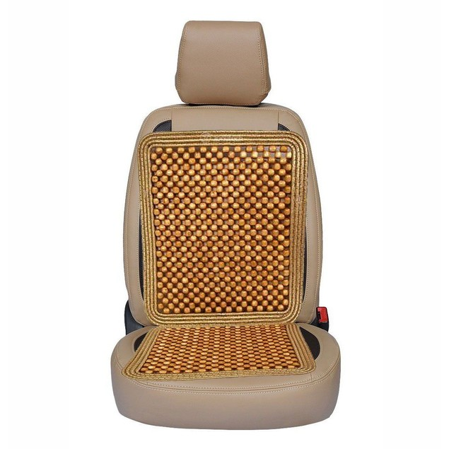 Zone Tech Natural Wooden Beaded Massage Seat Cushion Car Home Chair Cover