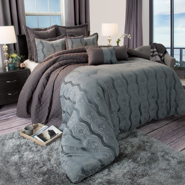 Lavish Home Jolene 8 Piece 100% Cotton Comforter Set