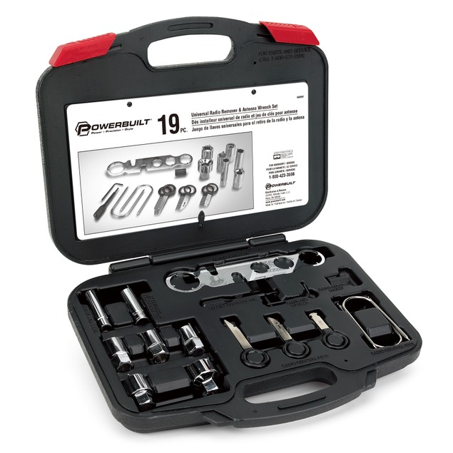 Powerbuilt 19 Pc. Universal Car Stereo, Radio And Antenna Tool Set - 648997