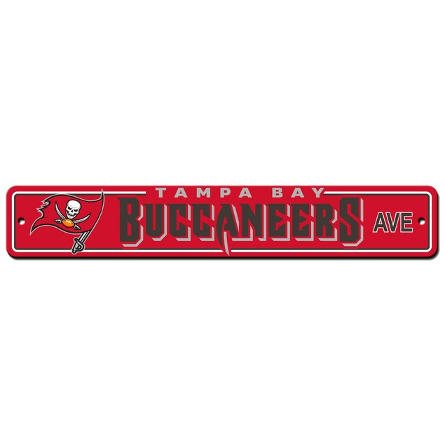 """Tampa Bay Buccaneers Ave Street Sign 4""""x24"""""""