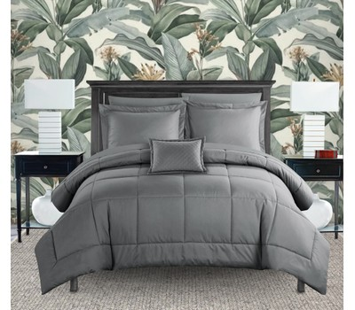 Joshuah 8 or 6 Piece Comforter Set Pieced Solid Color Stitched Design Was: $364.99 Now: $56.99.