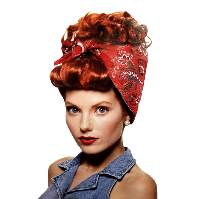 Rosie The Riveter Red Wig