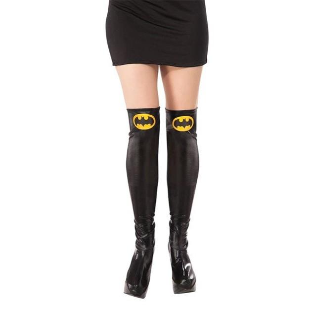 Batgirl Boot Tops Toppers Womens Adult Super Hero Cosplay Costume Batman
