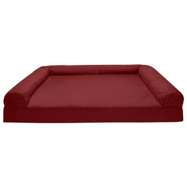 FurHaven Quilted Memory Foam Sofa Pet Bed