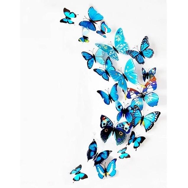 3D Butterfly Magnets-12 Piece Set