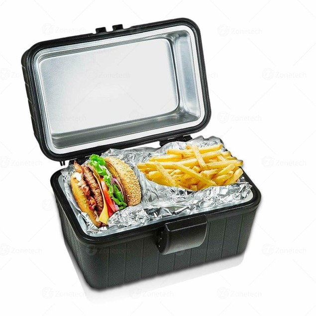 Zone Tech Portable Heated Lunch Box Electric Insulated Travel Camping Stove