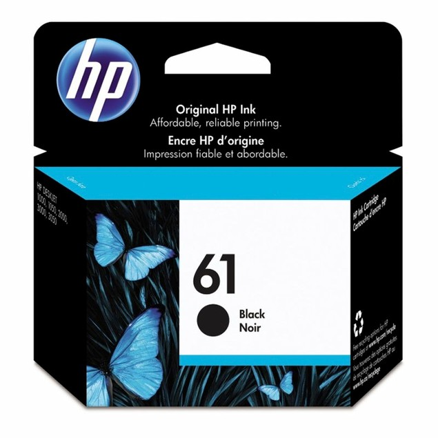 HP 61 Original Ink Cartridge, Eco-Friendly, Yield: 190 Pages Approx., Black