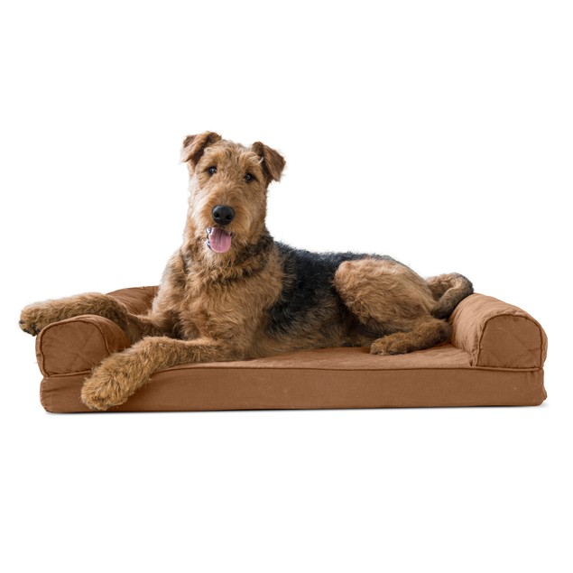 FurHaven Quilted Memory Foam Sofa Pet Bed