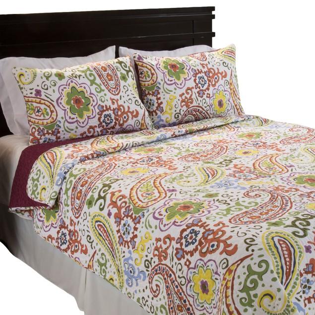 Lavish Home Trista 2 Piece Cotton Quilt Set - Twin