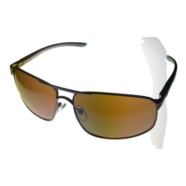 Timberland Men's Rectangle Dark Brown Metal Sunglasses TB7115 48G