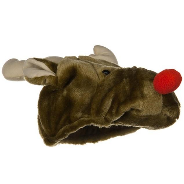Plush Reindeer Hat Rudolph Red Nosed Christmas Xmas The Movie Santa Claus
