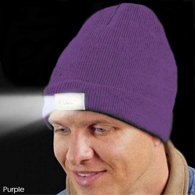 3-Pack LED Unisex Knit Beanie Hat