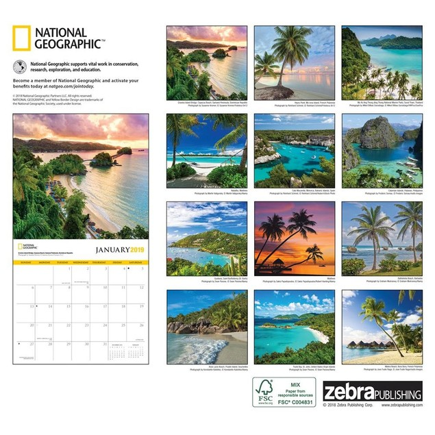 Islands NG Wall Calendar, Beaches by Calendars