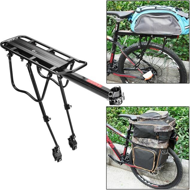 110 Lbs Capacity Adjustable Bike Luggage Cargo Rack Bicycle Accessories